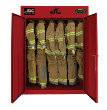 ADC fire cabinet full of gear   Commercial laundry equipment