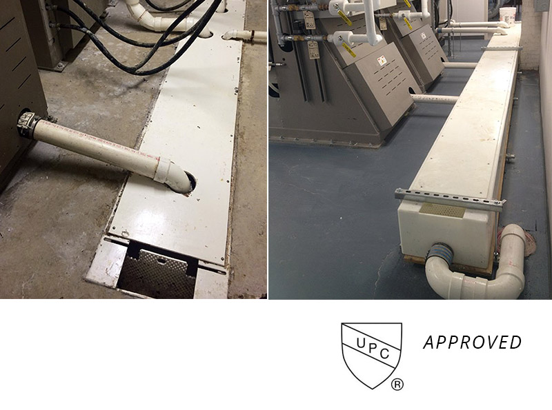 H-M drain troughs   UPC Approved   Commercial laundry equipment