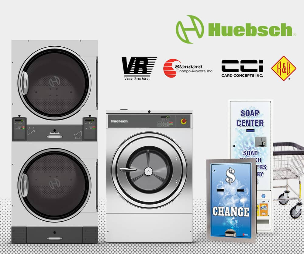 Huebsch washers and dryers | Coin operated laundry machines for sale